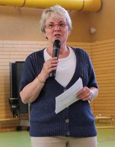 Frau Sahlmann, die Leiterin der Koch AG
